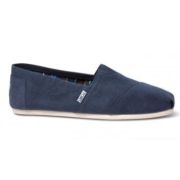 TOMS Alpargatas Navy Canvas
