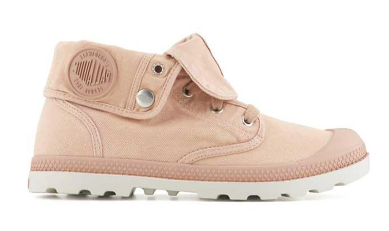 Palladium Boots Baggy Low Pink Silver W