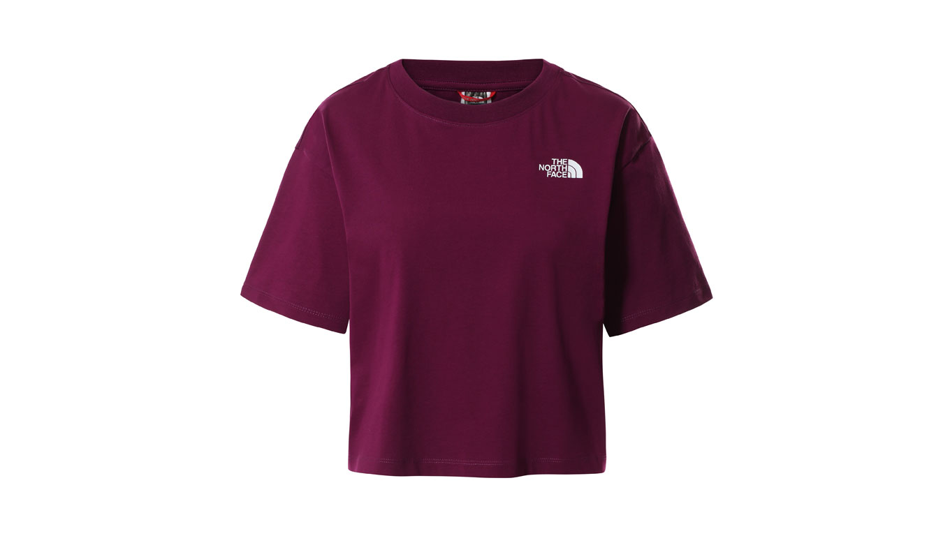 Levně The North Face W Cropped Sd Tee bordová NF0A4SYCGP5